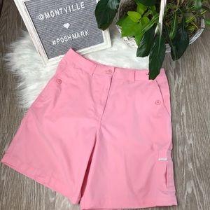 Tehama Nancy Haley Size 8 Pink Bermuda Golf Shorts